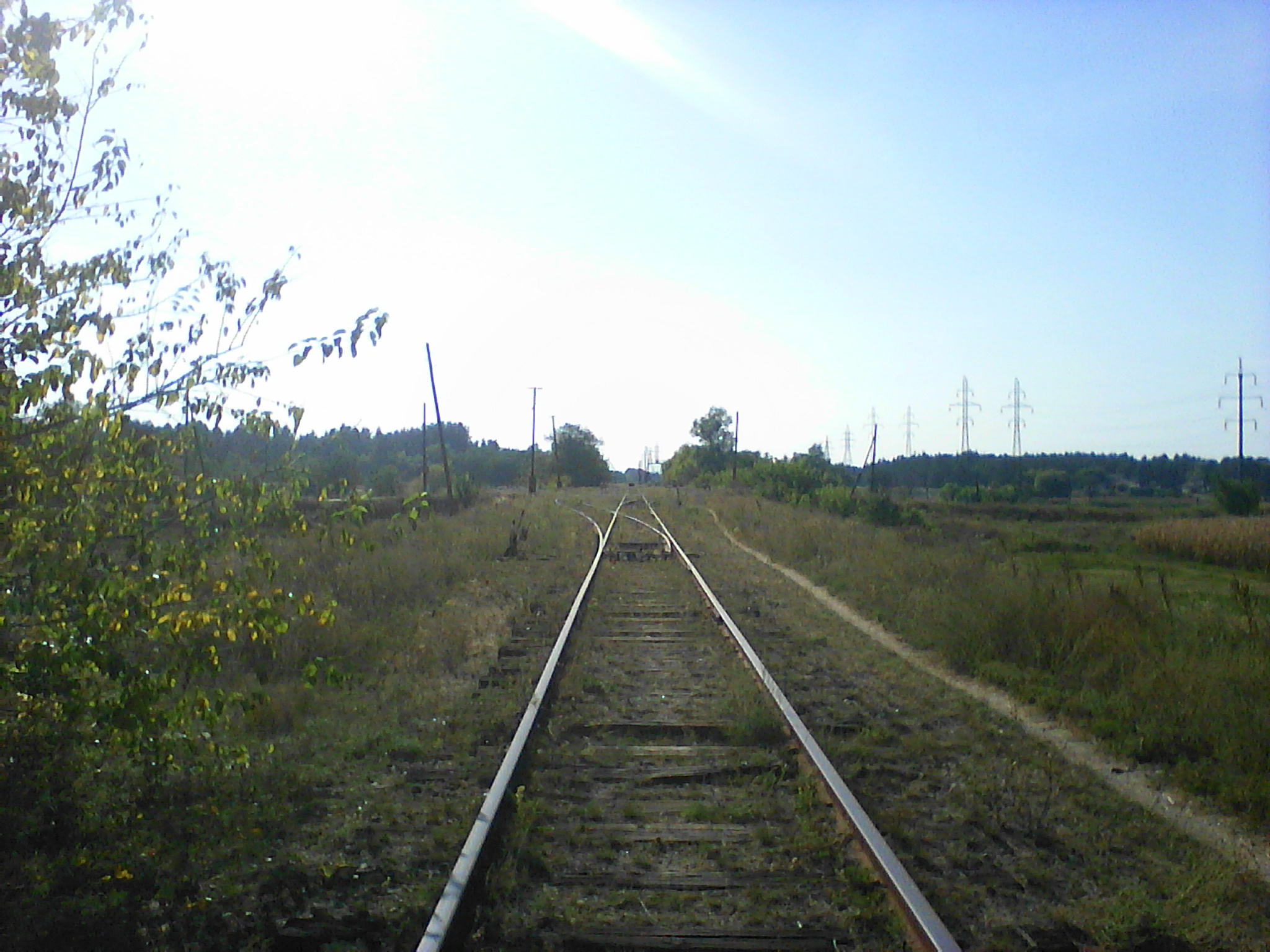 Вид на станцію зі сторони Золотоноші